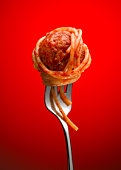 Spaghetti and Meatball on Fork