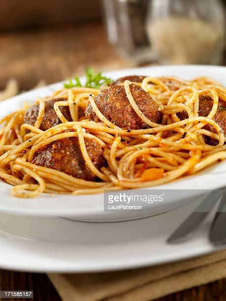 Spaghetti and Quinoa (Meatless) Meatballs