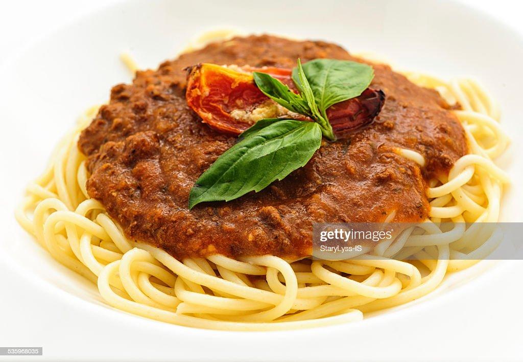 Spaghetti bolognese : Stock Photo