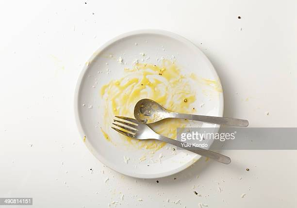 Spaghetti carbonara you have finished eating.