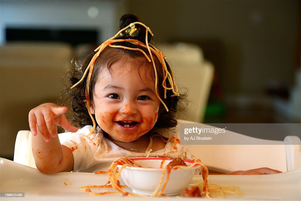 Spaghetti Head : Stock Photo