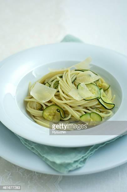 Spaghetti of a zucchini