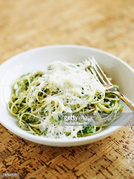 Spaghetti with anchovies, chilies, parsley