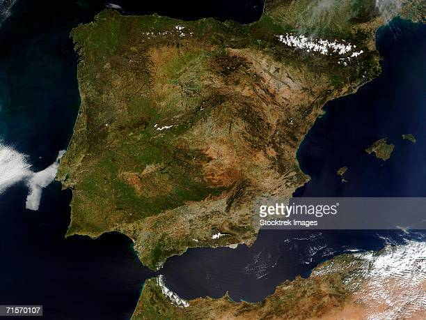 'Spain and Portugal, satellite image'