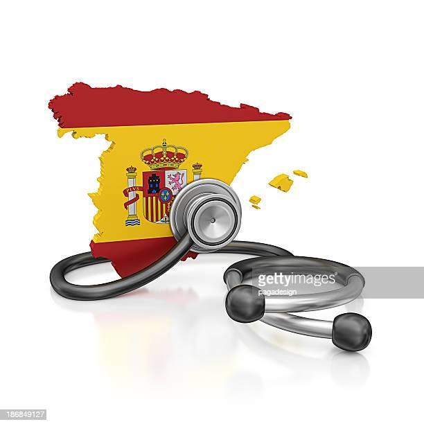 España y estetoscopio