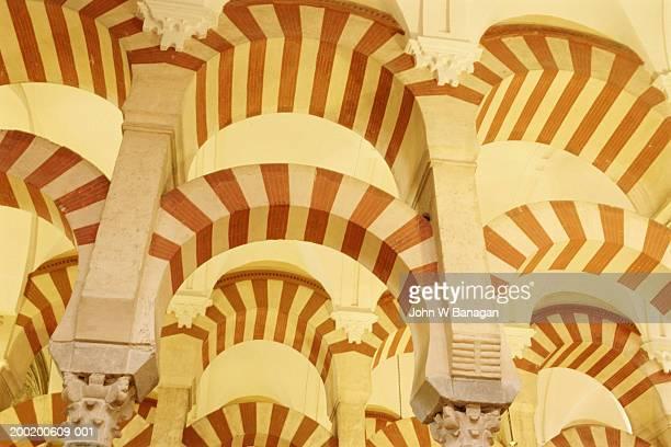 Spain, Andalucia, Cordoba, Mezquita interior detail
