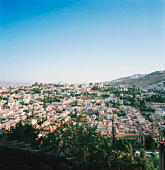 Spain, Andalucia, Granada, aerial view of the city