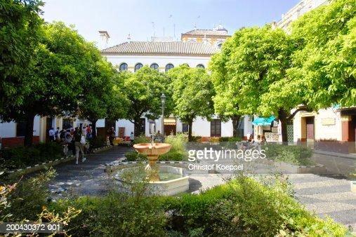 Spain, Andalucia, Seville, Plaza de San Francisco : ストックフォト