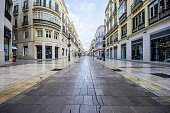 Spain, Andalusia, Malaga, shopping street