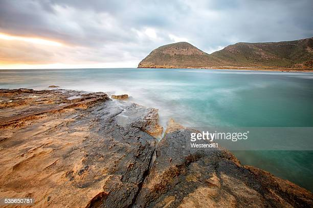 Spain, Andalusia, Natural Park of Cabo de Gata-Nijar, rocky coast