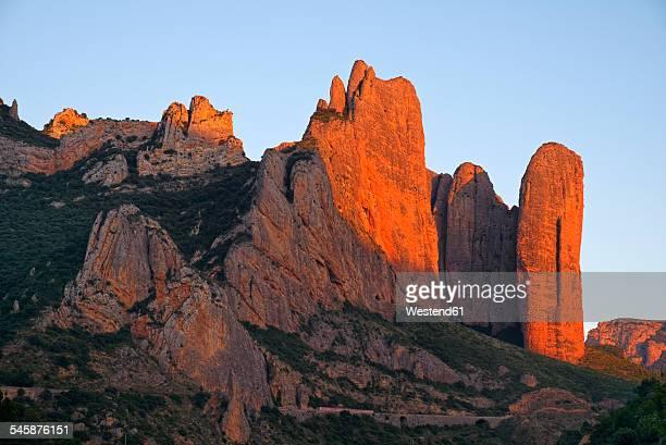 Spain, Aragon, Pyrenees, rock formation Riglos near Riglos