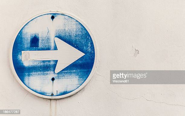 Spain, Arrow sign, close up