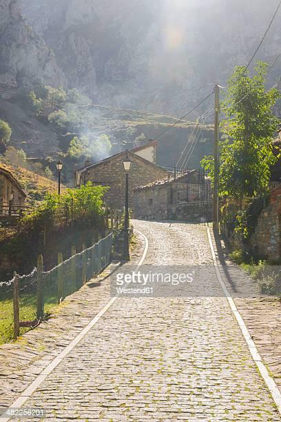 Spain, Asturia, Picos de Europa National Park, Ruta del Cares, Village Cain