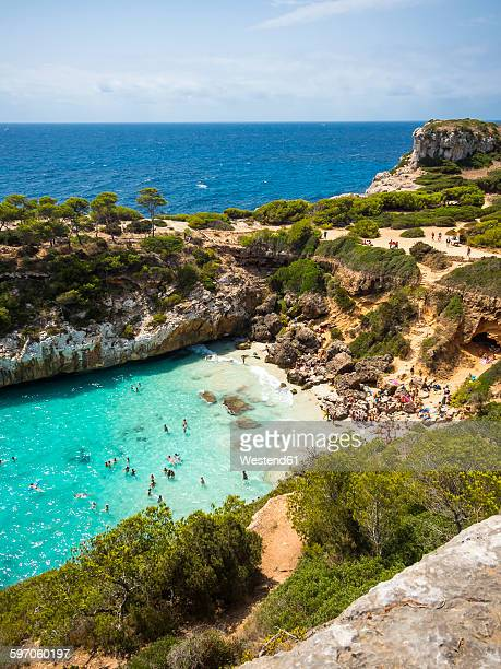 Spain, Baleares, Mallorca, View of bay Calo des Moro