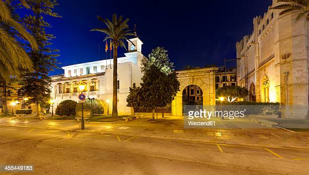 Spain, Balearic Islands, Mallorca, Palma, View of Consulate of Sea Gothic building