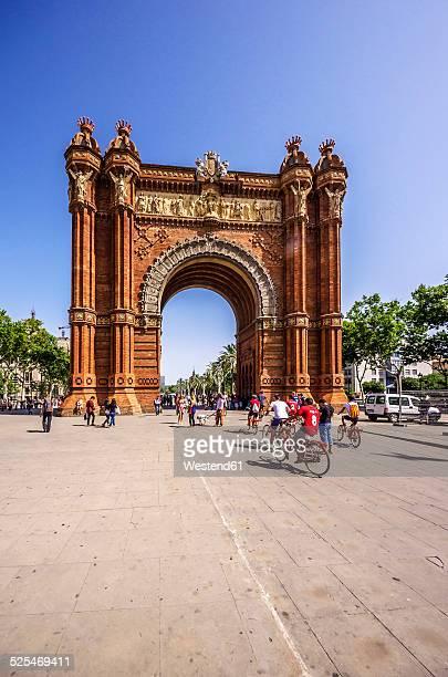 Spain, Barcelona, Arc de Triomf in district Sant Pere