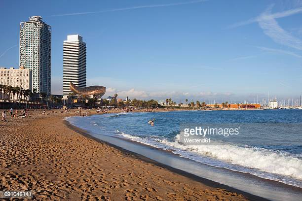 Spain, Barcelona, beach of La Barceloneta