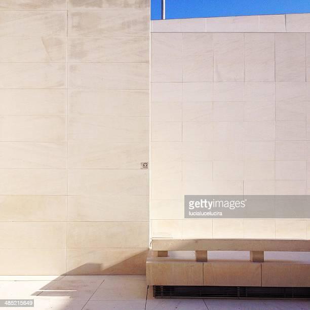 Spain, Barcelona, Caixa Farum, Tiled wall