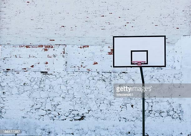 Spain, Basketball hoop against wall