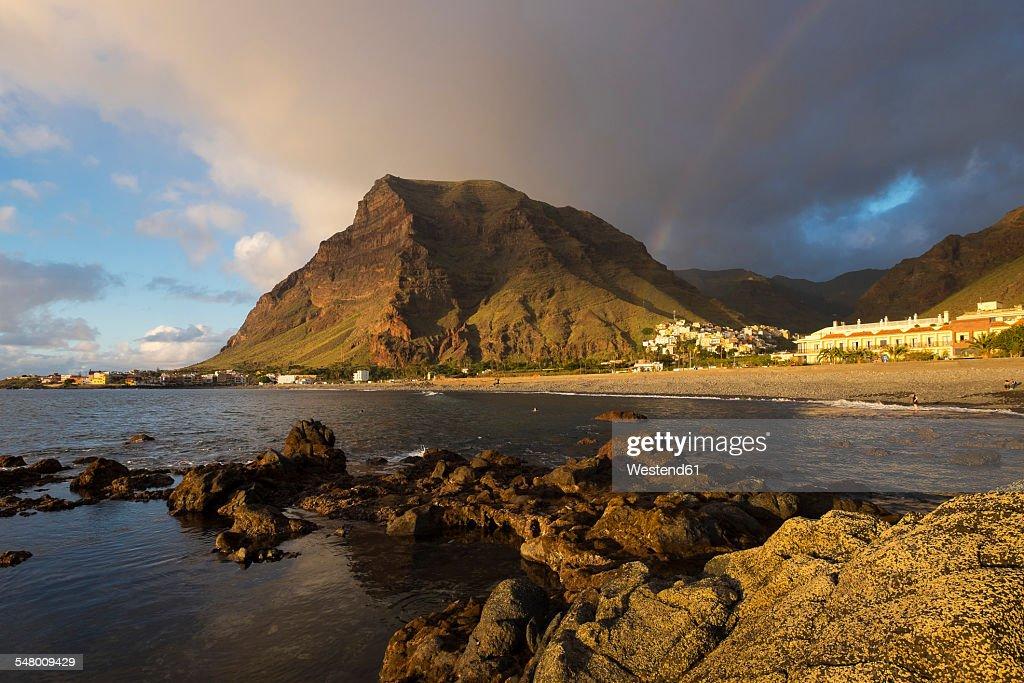 Spain, Canary Islands, La Gomera, Valle Gran Rey, villages La Playa and La Calera, mountain La Merica