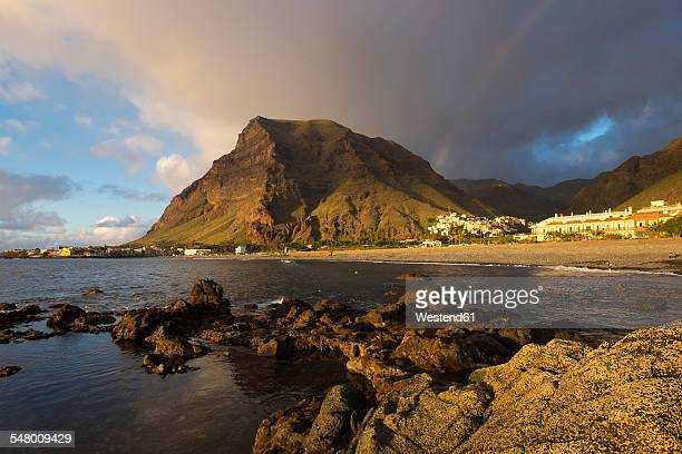 Spain, Canary Islands, La Gomera, Valle Gran Rey, villages La Playa and La Calera, mountain La Merica