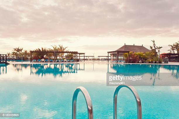 Spain, Canary Islands, La Palma, Fuencaliente, swimmingpool of a hotel