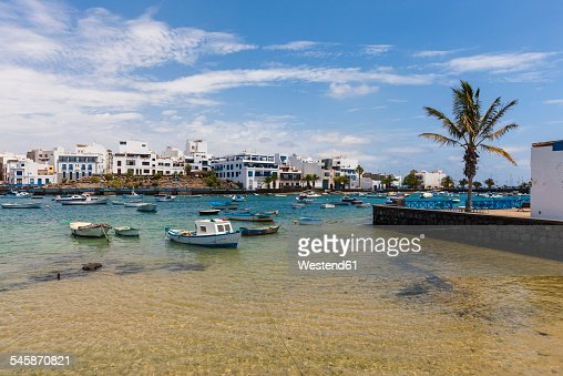 Spain, Canary Islands, Lanzarote, Arrecife, view to Charco de San Gines