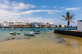 Spain, Canary Islands, Lanzarote, Arrecife, view to Charco de San Gines