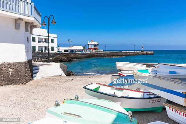 Spain, Canary Islands, Lanzarote, Punta de la Vela, Fishing village Arrieta