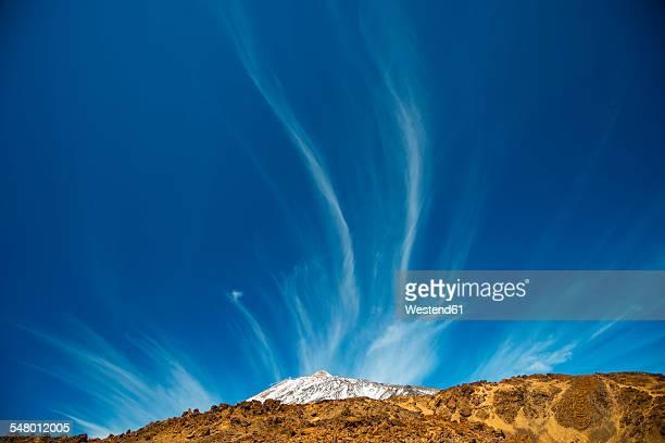 Spain, Canary Islands, Tenerife, Mount Teide, Teide National Park, cirrus clouds