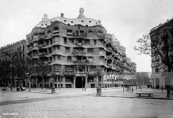 The 'Casa Mila' by Antonio Gaudi at the Paseo de Gracia 1919 Photographer Philipp Kester Published by 'Welt Echo' 51/1919 Vintage property of...