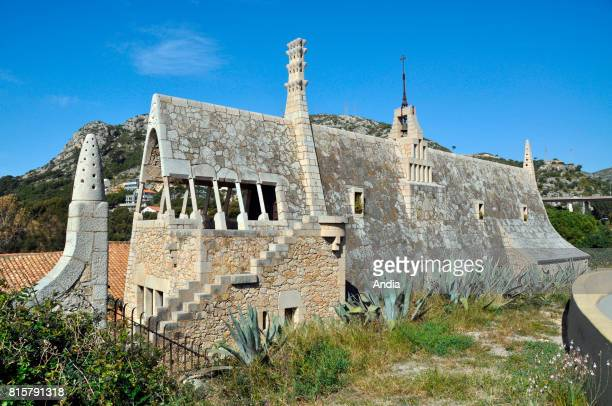 Spain Catalonia Garraf Bodegas Guell an architectural complex comprising a winery and associated buildings designed by architect Antoni Gaudi in...