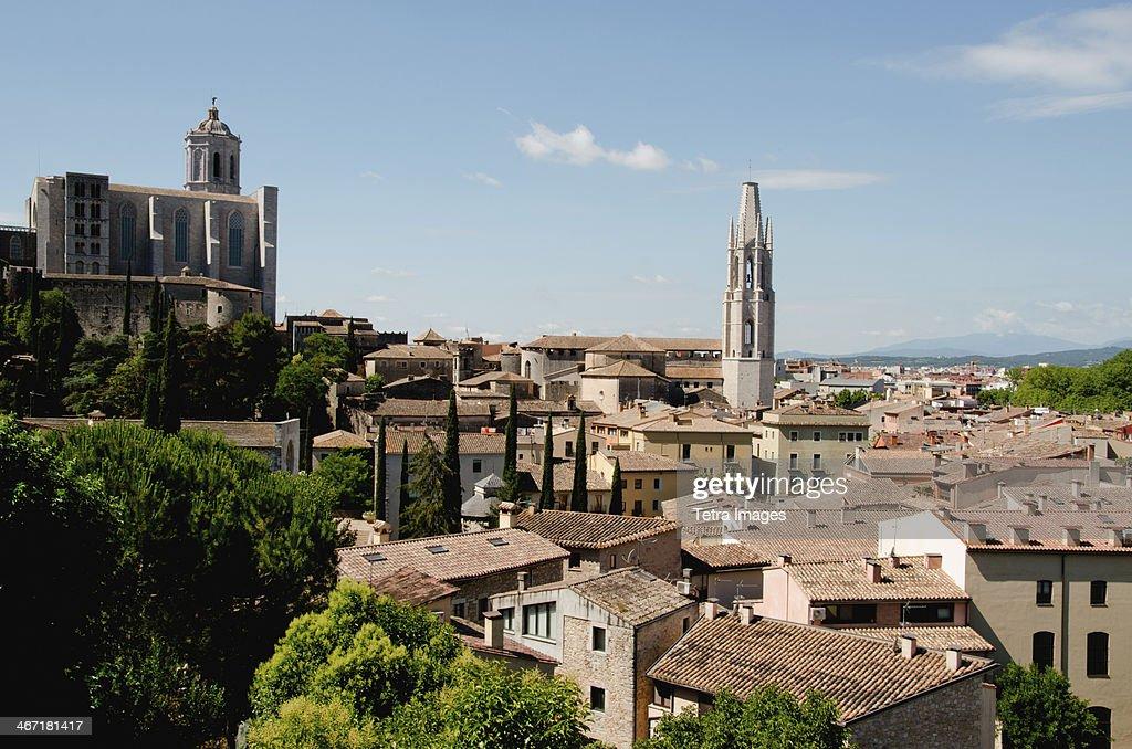 Spain, Catalonia, Girona, Townscape