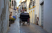 Spain, Chariot ride across historic part of town