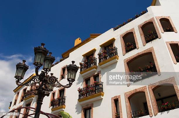 Spain Costa Del Sol Marbella Puerto Banus Hotel Benabola Detail Of Architecture