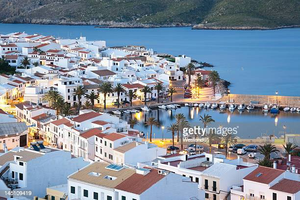 Spain, Fornells, Menorca, View of harbour at evening