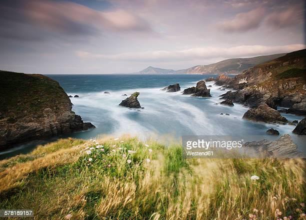 Spain, Galicia, Ferrol, landscape in the coast in a windy day