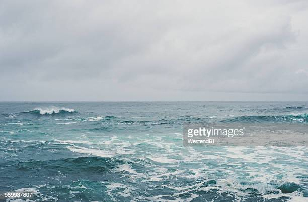 Spain, Galicia, Ferrol, sea and sky on a cloudy day