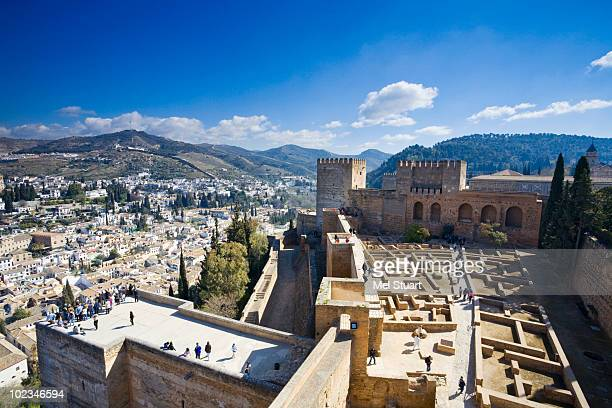 Spain, Granada, View of Alhambra and town