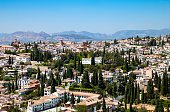 Spain Granada View Over The City from the Alhambra