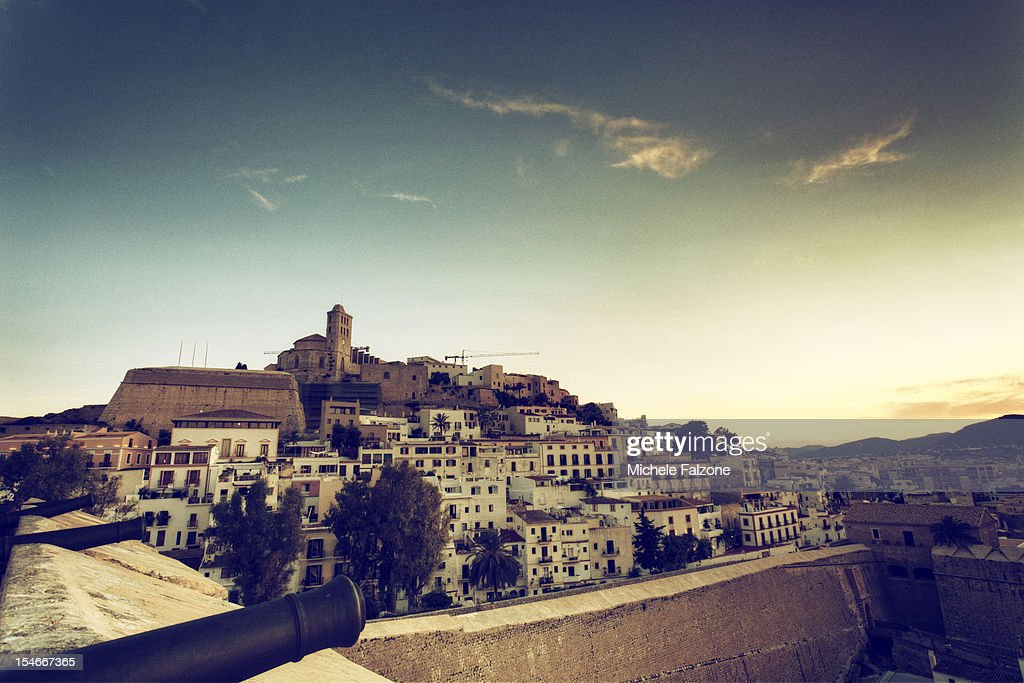 Spain, Ibiza, Old Town (Dalt Vila) : Stock Photo