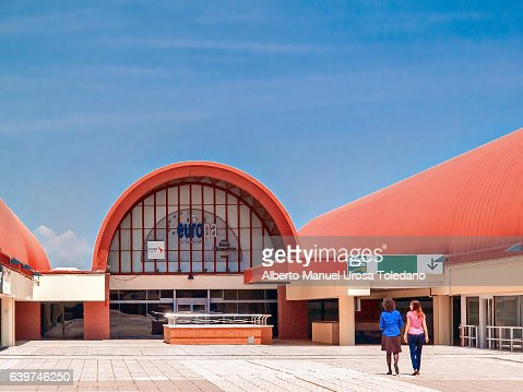 Spain, Madrid, Chamartin train station entrance