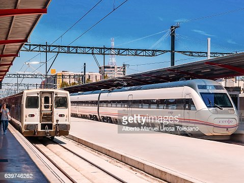 Spain, Madrid, Chamartin train station