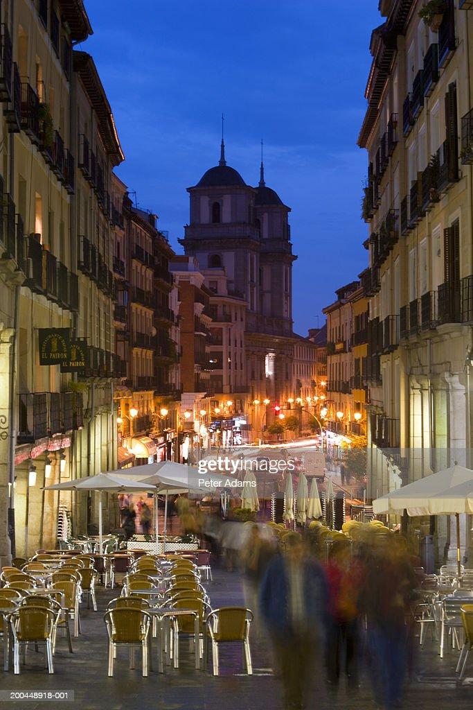 Spain, Madrid, Plaza Mayor, night