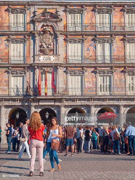 Spain, Madrid, Plaza Mayor square - Panaderia House