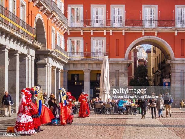 Spain, Madrid, Plaza Mayor square - Typical clothing