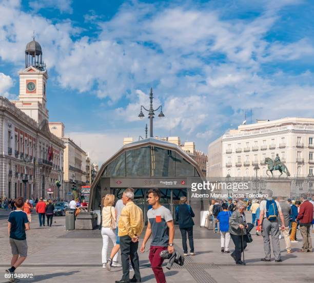Spain, Madrid, Puerta del Sol square - Train Station
