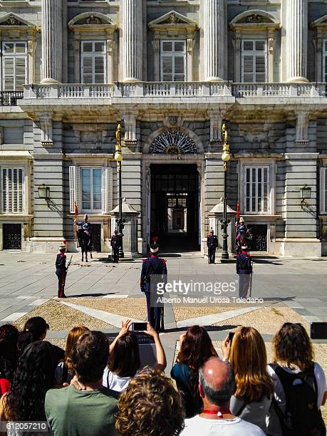 Spain, Madrid, Royal Palace - Changing the guard