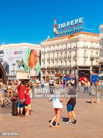 Spain, Madrid, Tio Pepe at Puerta del Sol sq.