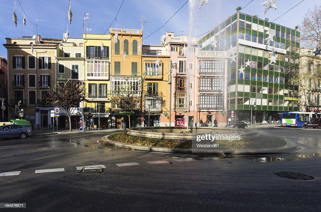Spain, Majorca, Street in downtown Palma
